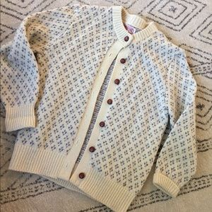 Ivory Button Up Cardigan Trendy Classic